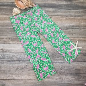 Lilly Pulitzer Mosaic Dolphin capris crop pants 6